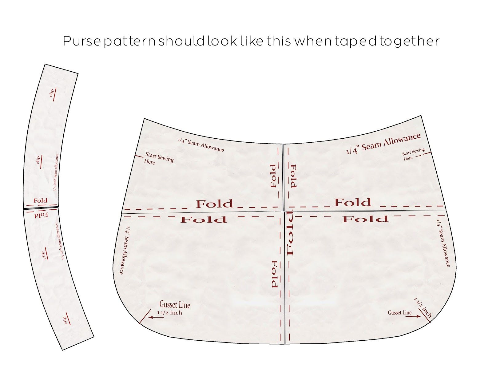 Purse Patterns Print Free    Download The Pattern Pieces To Your - Free Printable Purse Patterns To Sew