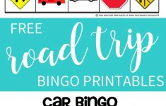 Road Trip Bingo Game Free Printable – That's What Che Said – Free Printable Car Bingo