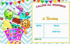 Free Printable Shopkins Birthday Invitations