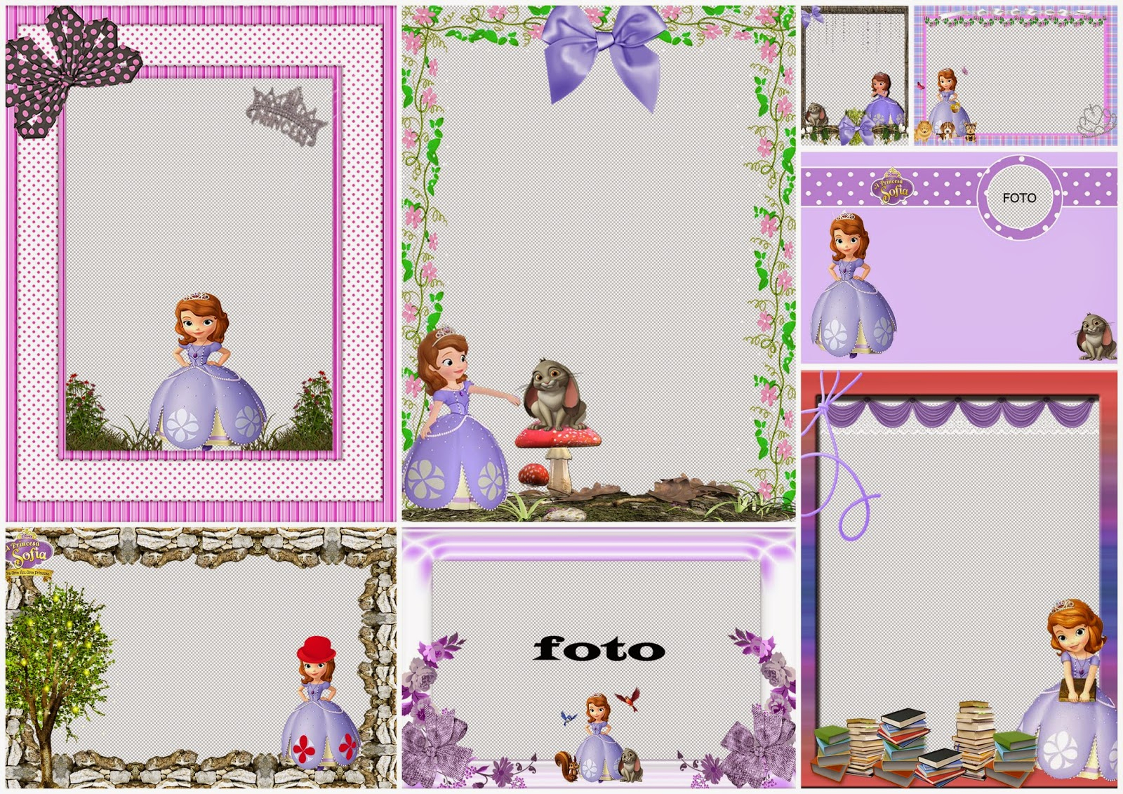 Sofia The First Free Printable Invitations Or Photo Frames. | Oh My - Free Printable Princess Invitation Cards