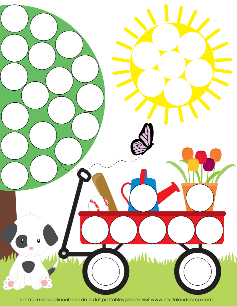 Spring Do A Dot Printables For Preschoolers   Let's Learn-Dot Pages - Do A Dot Art Pages Free Printable