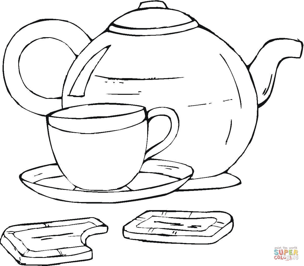 Tea Cup Coloring Page | Free Printable Coloring Pages - Free Printable Tea Cup Coloring Pages