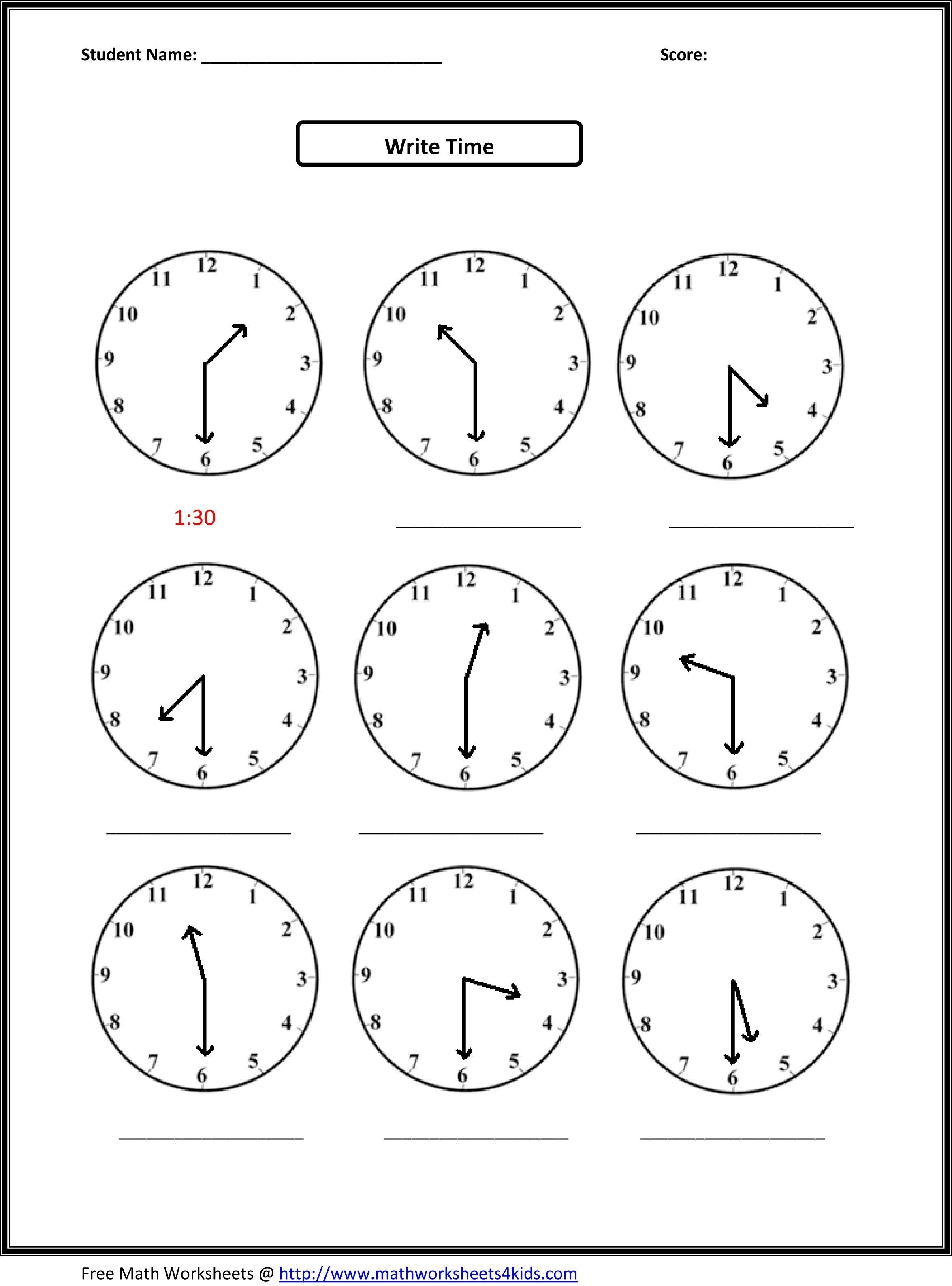 Telling Time Worksheets Ks3 New Clock Grade 3 Free Maths Printables - Free Printable Telling Time Worksheets