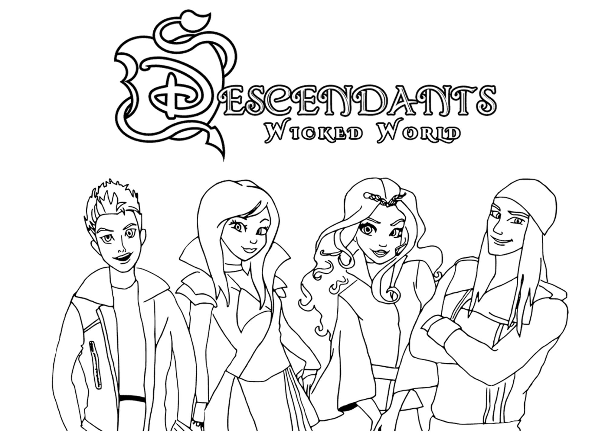 The Descendants To Download - The Descendants Kids Coloring Pages - Free Printable Descendants Coloring Pages