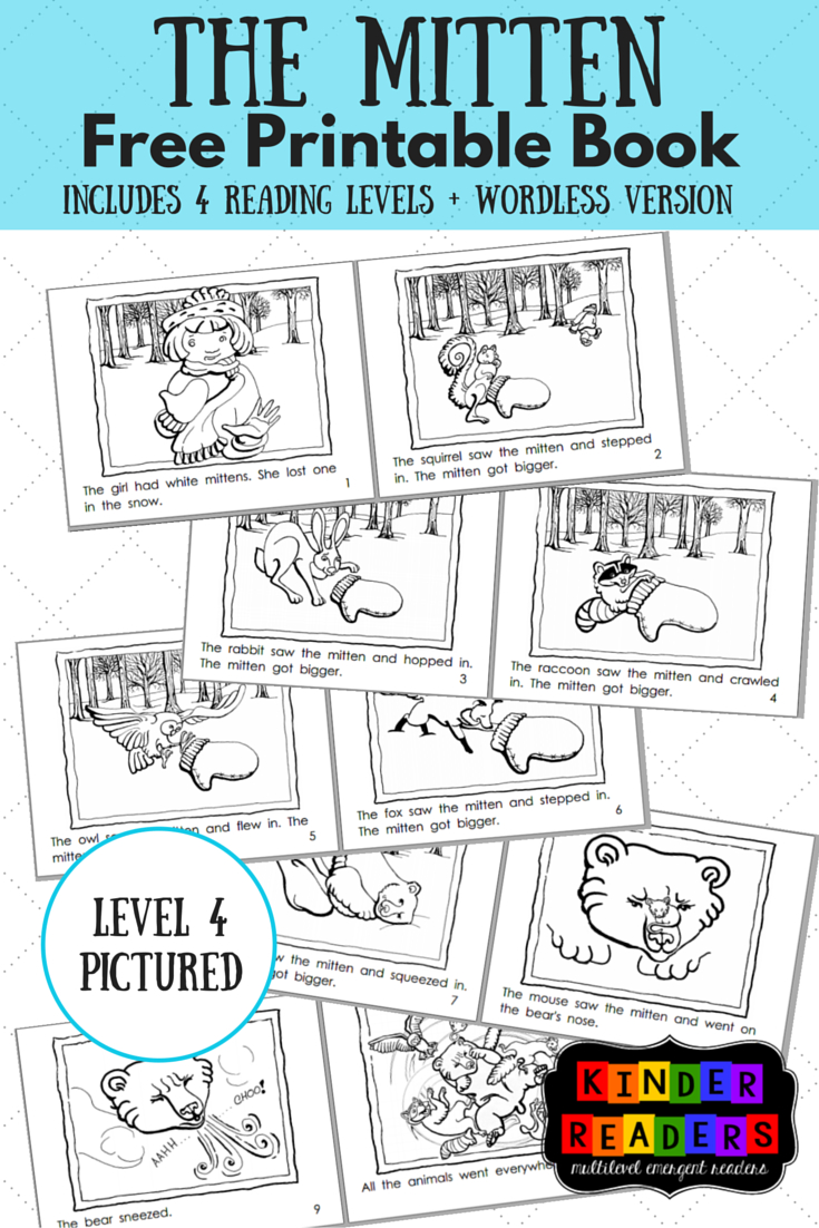 The Mitten Activities To Go With The Book! | Music Therapy - Free Printable Kindergarten Reading Books