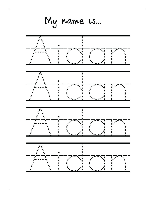 Tracing Name Sheets Handwriting Worksheetsseason Tracing Sheets - Free Printable Name Tracing