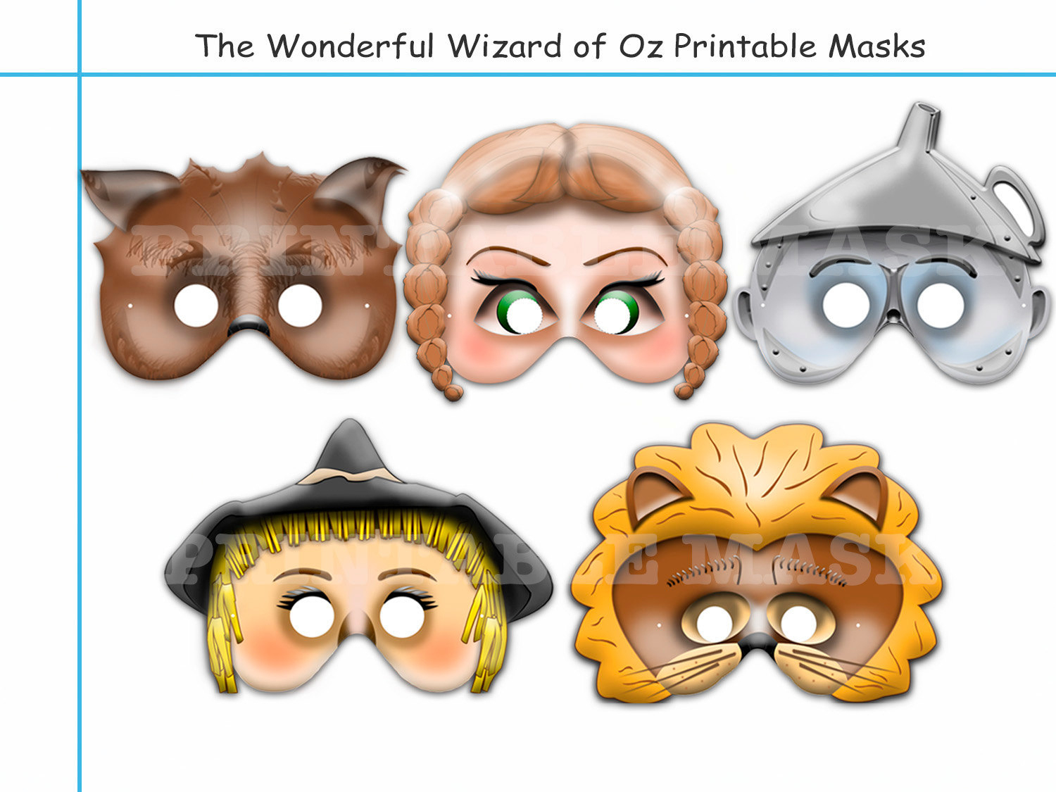Unique The Wonderful Wizard Of Ozholidaypartystar On Zibbet - Free Printable Wizard Of Oz Masks