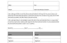 Free Printable Blank Auto Bill Of Sale