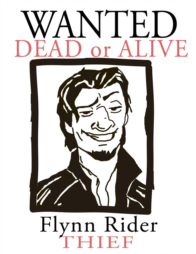Wanted Flynn Rider Printable   Www.topsimages - Free Printable Flynn Rider Wanted Poster