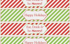 Water Bottle Printables For Christmas – Christmas Printables – Print – Christmas Water Bottle Labels Free Printable