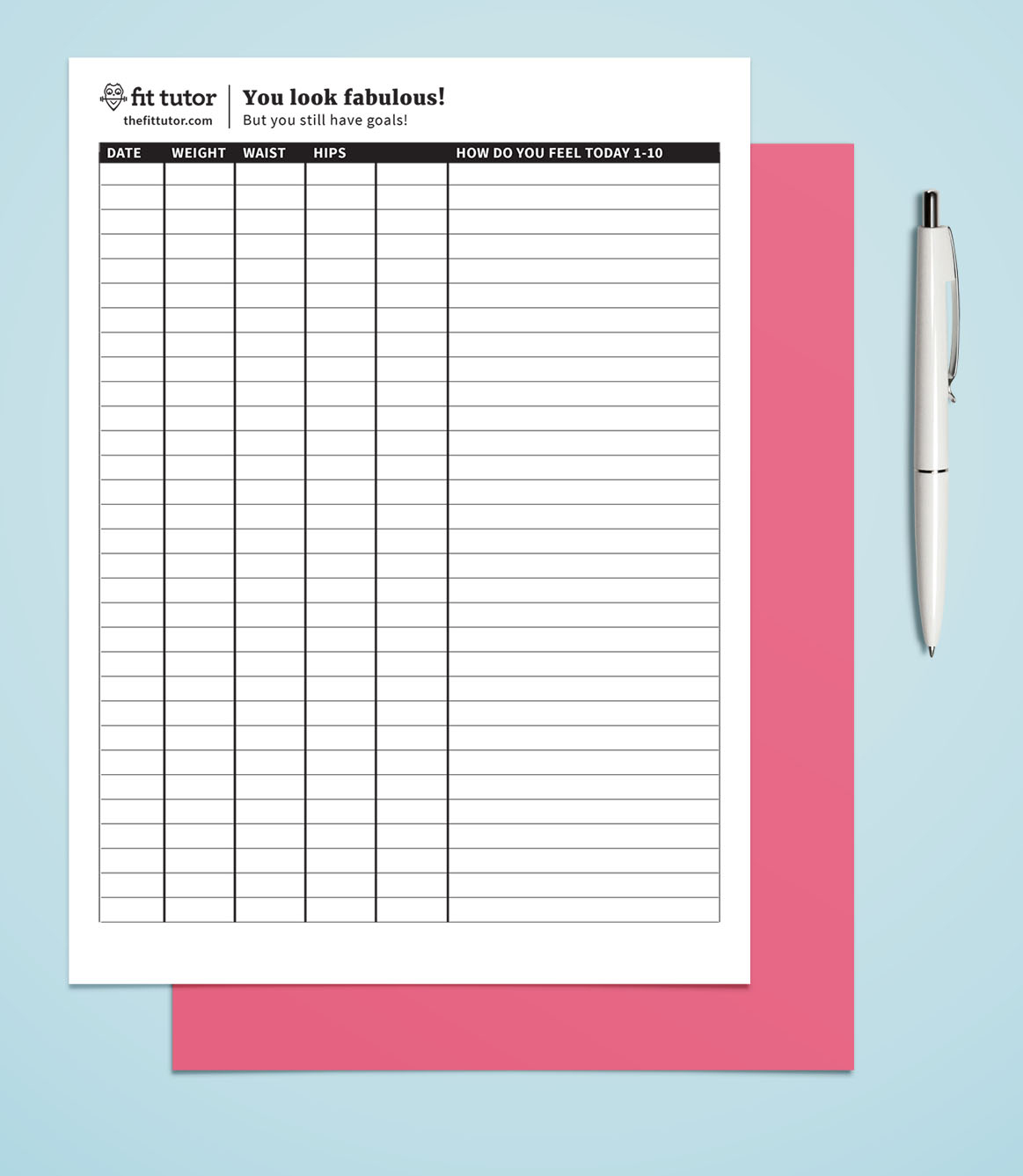 Weight Loss Chart - Free Printable - Reach Your Weight Loss Goals - Free Printable Weight Loss Graph Chart