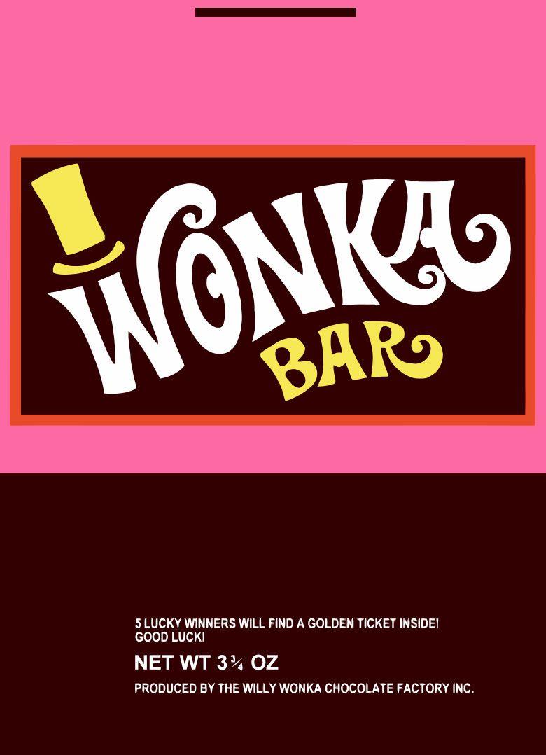 Wonka Wrapper   Willy Wonka - Wonka Bar Wrapper Printable Free