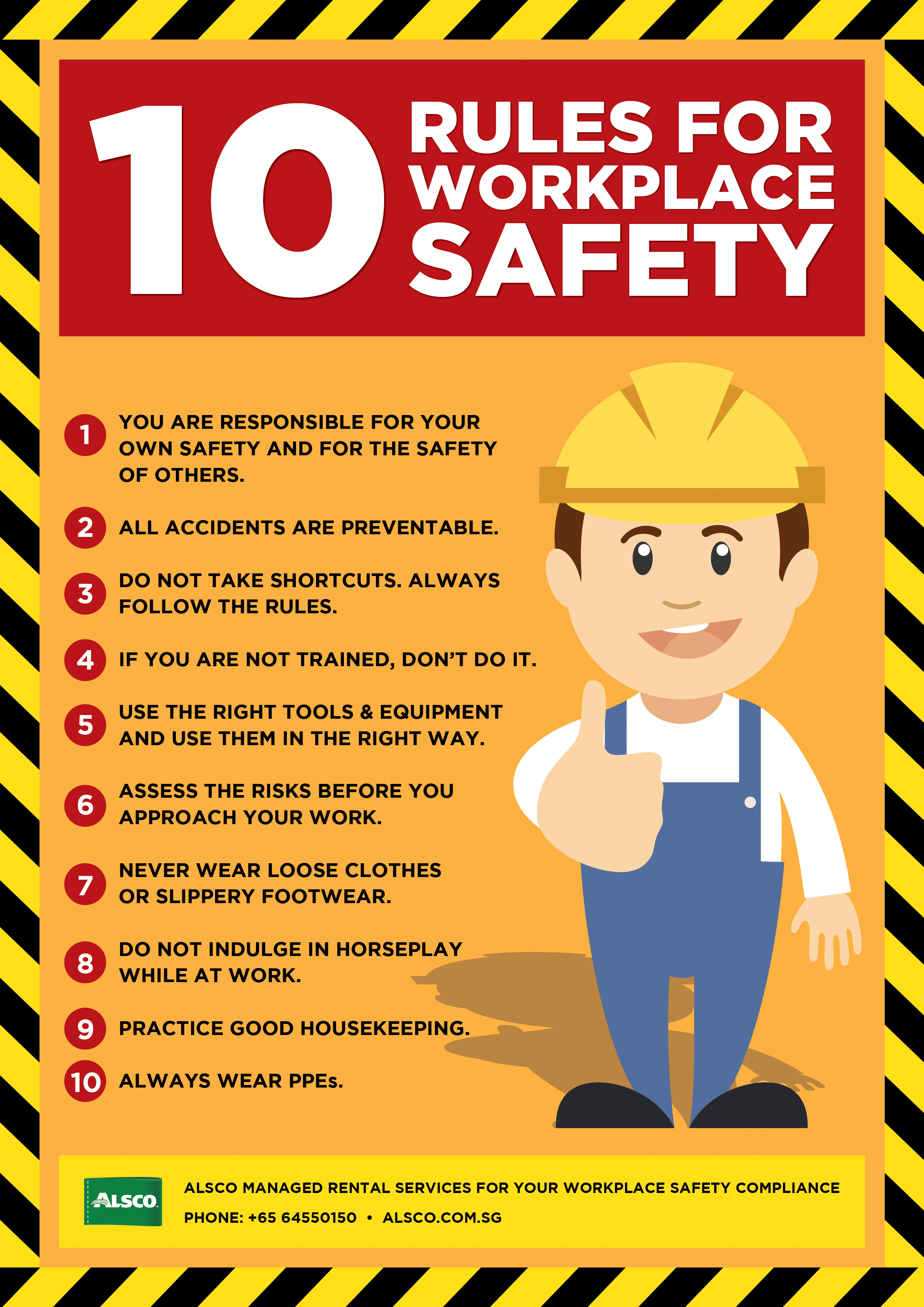 Workplace Safety Posters | Downloadable And Printable | Alsco - Free Printable Safety Signs