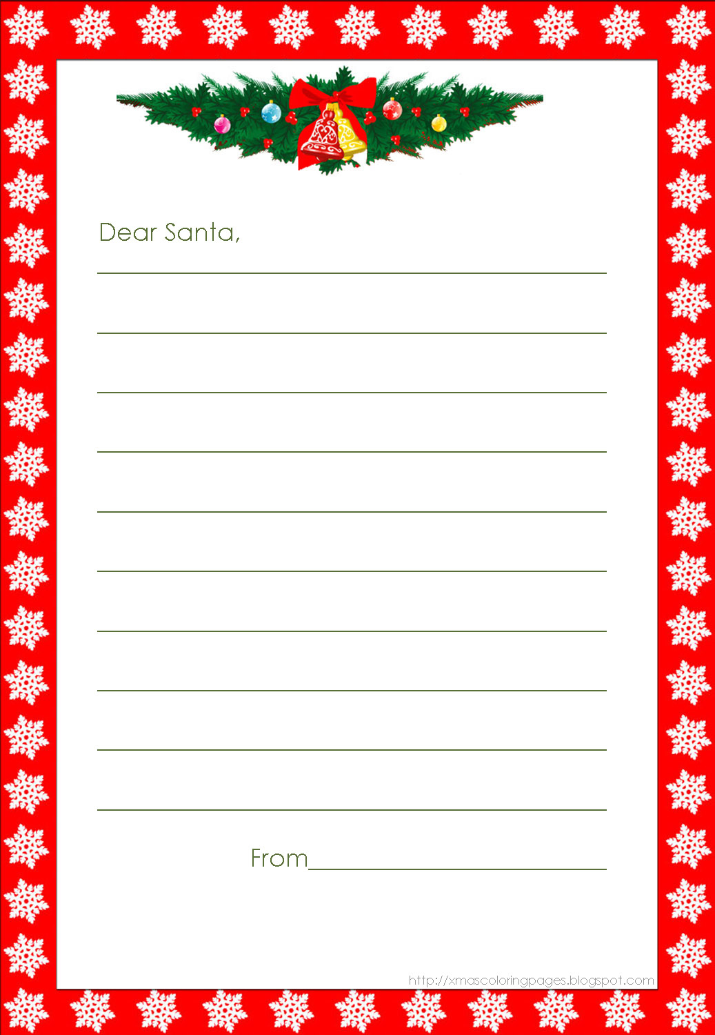 Xmas Coloring Pages - Free Printable Christmas Letters