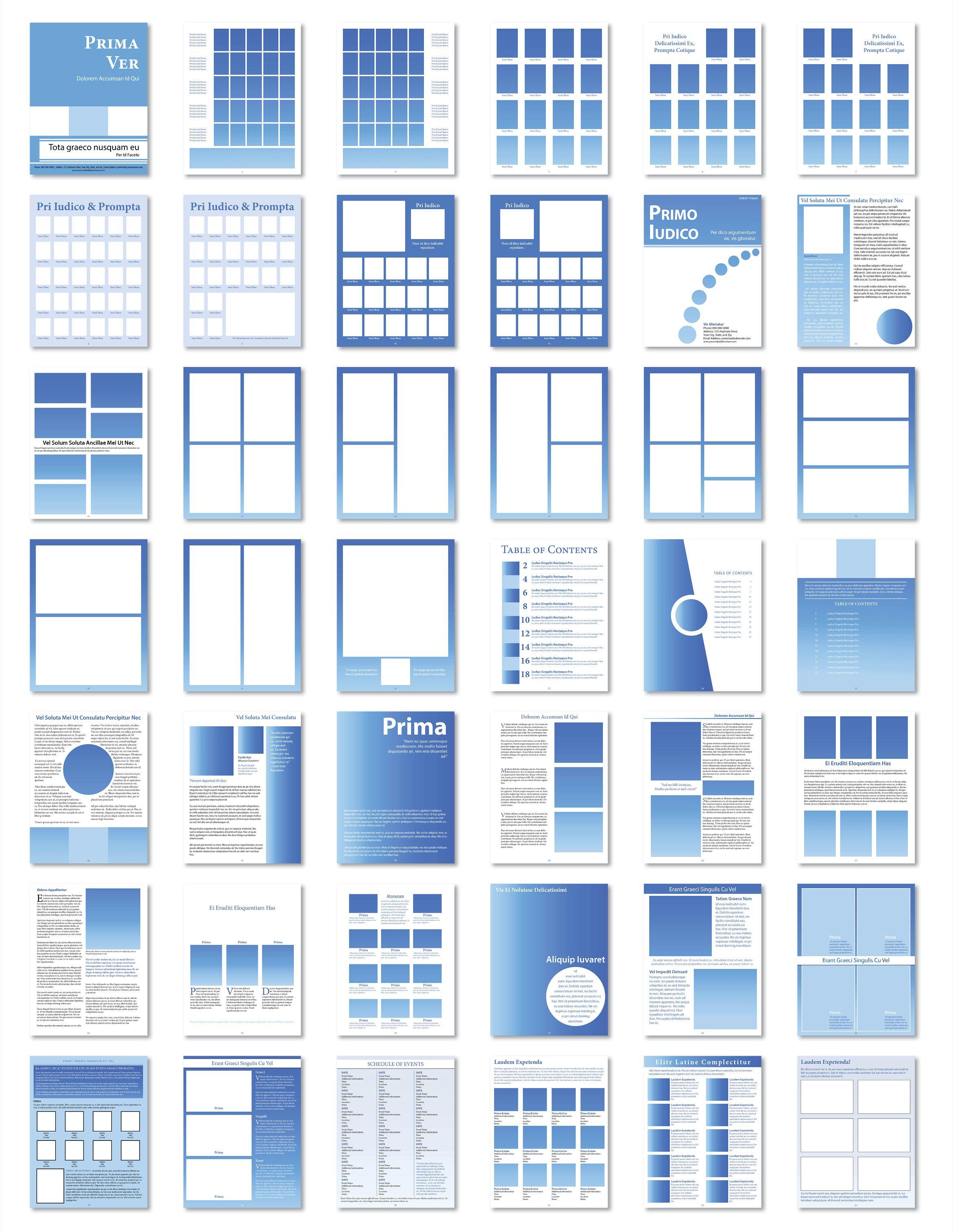 Year Book Templates | Printingcenterusa - Free Printable Yearbook Templates