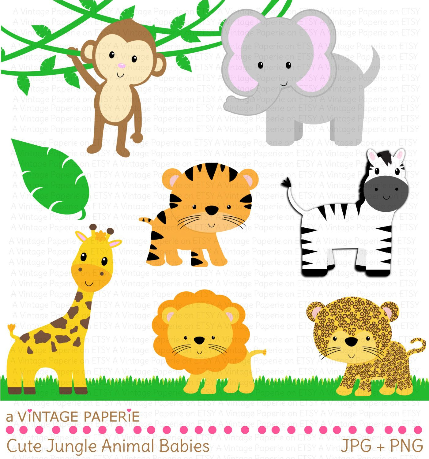 Zoo Animals Clipart - Free Large Images | Safari Baby Shower - Free Printable Baby Jungle Animal Clipart