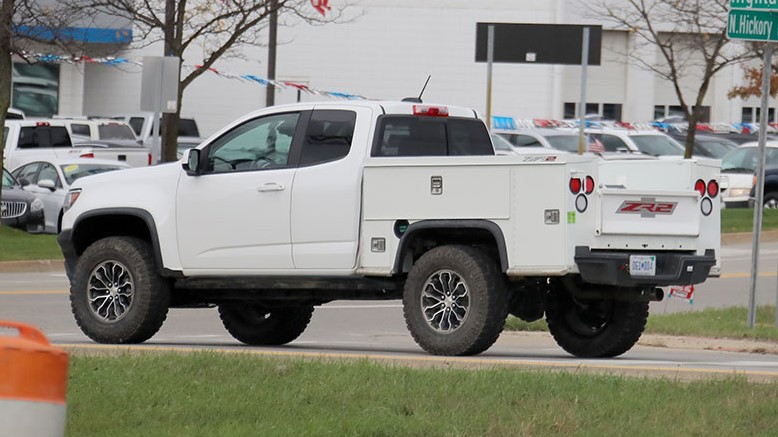 2019 Chevy Colorado ZR2 Utility Truck changes