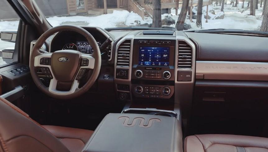 2020 Ford F250 King Ranch interor